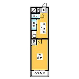 アイルーム亀山上道野[1階]の間取り