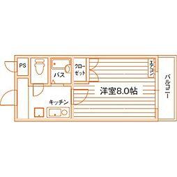 ロイヤルハイツ折尾1号館[2階]の間取り
