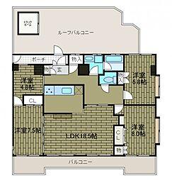 メゾンドA2[6階]の間取り