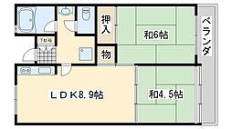 佐野湊団地1号棟[616号室]の間取り