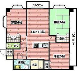 メゾンドベール[1階]の間取り