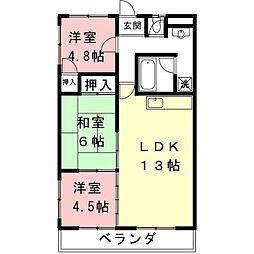 レジデンス桜[3階]の間取り
