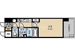 大阪府大阪市城東区中央3丁目の賃貸マンションの間取り