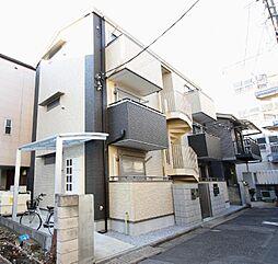 埼玉県川口市並木の賃貸アパートの外観
