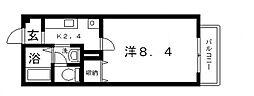 エントピア西堤[A201号室号室]の間取り