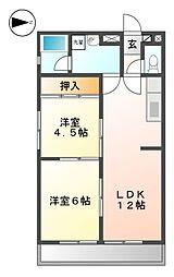 コーポ広栄[3階]の間取り