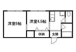 ビューパレス吉田[3階]の間取り