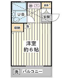 ローズアパートB棟[2階]の間取り