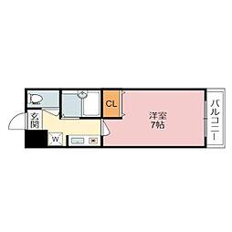 滋賀県草津市野路8丁目の賃貸マンションの間取り