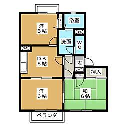 グラシューズウィル  A棟[2階]の間取り