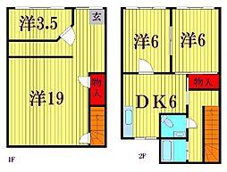 京葉流通センター3-22[1号室]の間取り