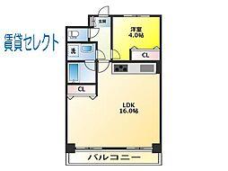 コスモ松戸ステーションビュウ[508号室]の間取り