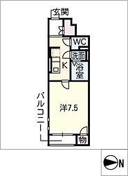 クレイノAngel[1階]の間取り