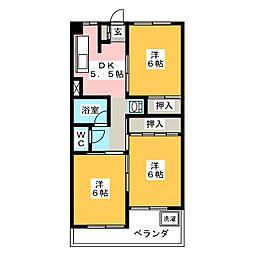 エスポワール岩倉[2階]の間取り