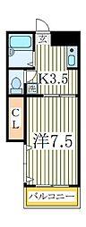 ハイムまことA棟[1階]の間取り