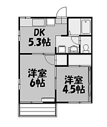 東京都町田市成瀬が丘3丁目の賃貸アパートの間取り