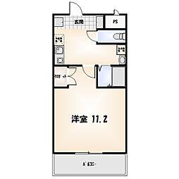 リバティマンション[2-B号室]の間取り