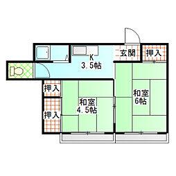 片野アパート[C号室]の間取り