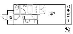 MAISON MASUI II[4階]の間取り