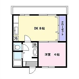 愛知県安城市住吉町7丁目の賃貸マンションの間取り