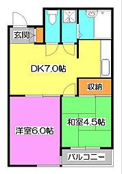 けやき通りマンション[3階]の間取り