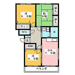 ファミール神宮寺[2階]の間取り