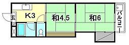 コーポ福住2[205 号室号室]の間取り