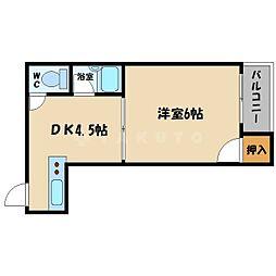 リバティ都島[2階]の間取り