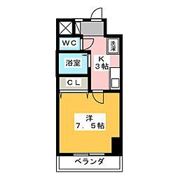 K01[3階]の間取り