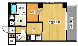 JR山陽本線 広島駅 徒歩12分の賃貸マンション 7階1Kの間取り