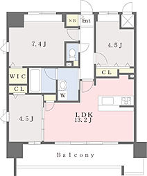 JR鹿児島本線 千早駅 徒歩4分の賃貸マンション 9階3LDKの間取り