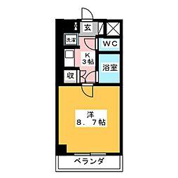 笠寺ハウス[6階]の間取り