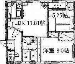サニーコートI[203号室]の間取り