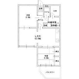 北海道札幌市中央区南十六条西5丁目の賃貸マンションの間取り