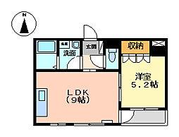静岡県沼津市杉崎町の賃貸アパートの間取り