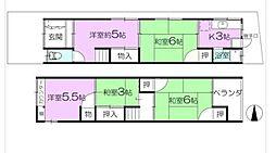 [一戸建] 兵庫県尼崎市水堂町2丁目 の賃貸【/】の間取り