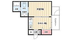 ラナップスクエア京都西陣[9階]の間取り