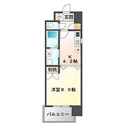 アスリート江坂II番館[3階]の間取り