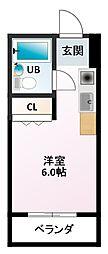 コーポトラスト[3階]の間取り