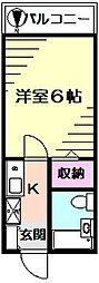 メゾンロワール横浜[1階]の間取り