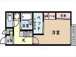 JR東海道・山陽本線 摂津富田駅 徒歩9分の賃貸アパート 1階1Kの間取り