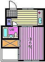 プリエールマンション[3-D号室]の間取り