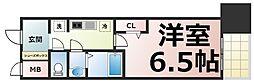 Osaka Metro中央線 緑橋駅 徒歩5分の賃貸マンション 8階1Kの間取り