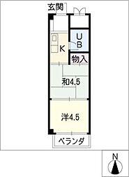 ヤングプラザ[2階]の間取り