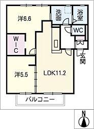 フレグランス新栄 E棟[2階]の間取り
