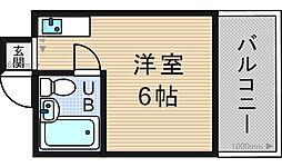 ラパンジール阿波座II[203号室]の間取り