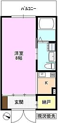 JR北陸新幹線 上田駅 徒歩21分の賃貸マンション 1階1SKの間取り