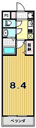 プリモベント円町[1階]の間取り