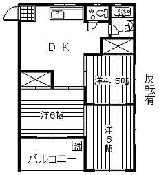 コーポ81[2階]の間取り