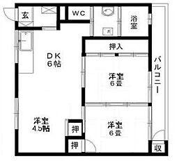 長丘不動産第1ビル[2階]の間取り
